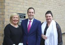 Una McKernan, Paul Givan MLA and Marie Cavanagh