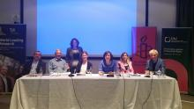 The panel at last week's launch of the model bill