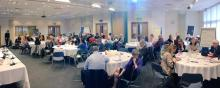 Panorama of attendees at event