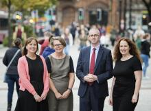 Kathryn Torney (The Detail), Joanne McDowell (Big Lottery Fund NI), Stephen McCaffery (The Detail) and Lisa McEleherron (NICVA)