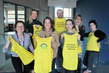 NICVA Marathon Team (L-R)Denise, Louise, Siobhan, Bob, Laura, Sandra, Roisin